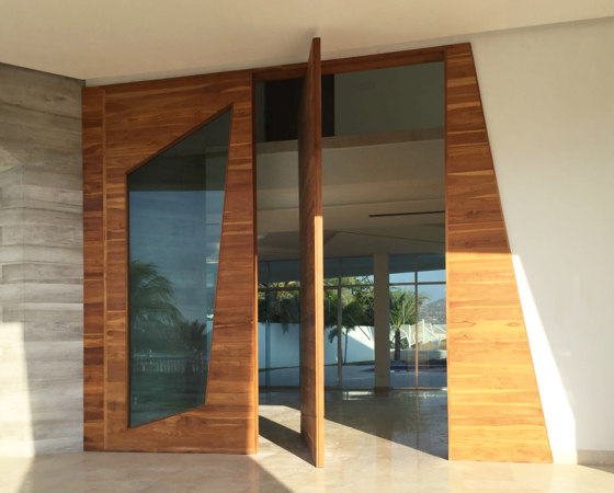 System One | Wooden Entrance Pivot Door by FritsJurgens | Hinges