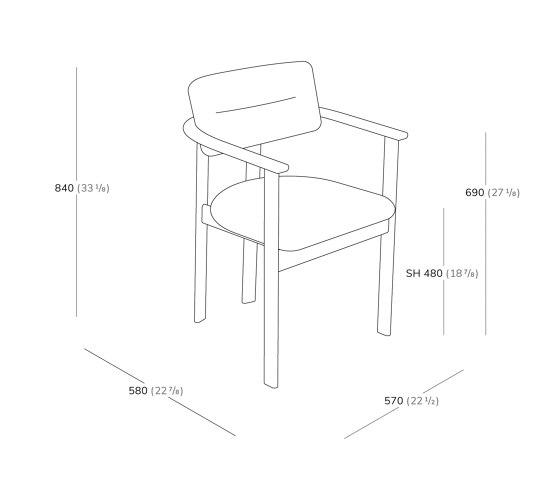 Pillar Armchair by Favius | Chairs