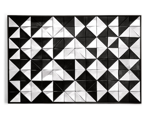 Tejo Black & White tile panel by Mambo Unlimited Ideas | Wall art / Murals