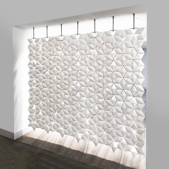 Facet Hanging Room Divider - 238x230cm by Bloomming | Sound absorbing room divider