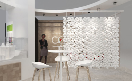 Facet Hanging Room Divider - 238x249cm by Bloomming | Folding screens