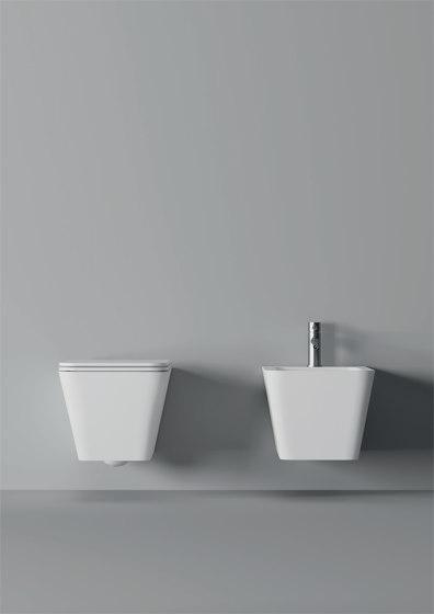 Bidet Hide Hung Square 55cm x 35cm by Alice Ceramica | Bidets