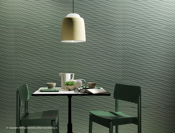 3D Twist Sage Matt 80 by Atlas Concorde | Wall tiles