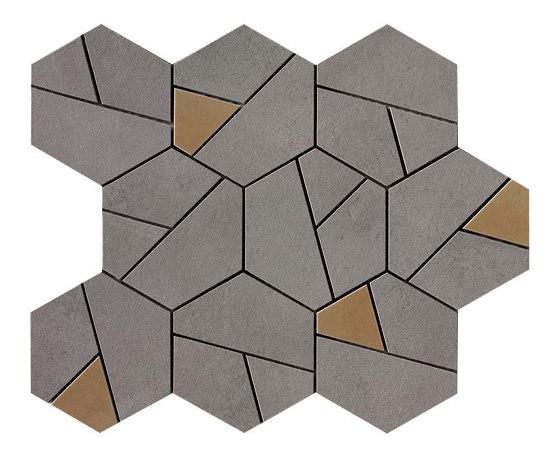 Boost Smoke Mosaico Hex Yellow by Atlas Concorde | Ceramic tiles