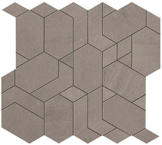 Boost Grey Mosaico Shapes by Atlas Concorde | Ceramic tiles