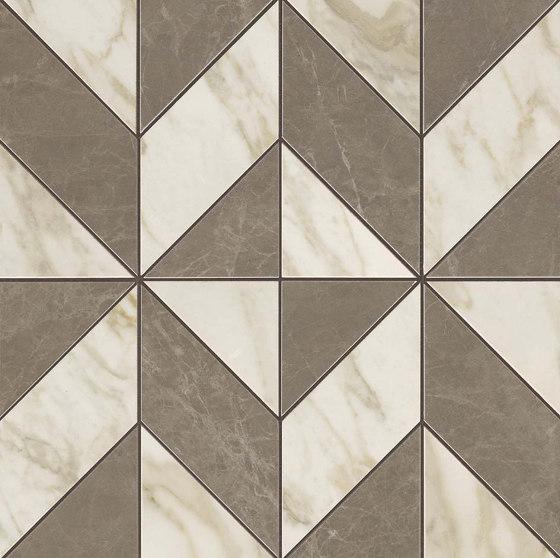MARVEL Gris-Calacatta Mosaico Cubes Lappato de Atlas Concorde | Mosaicos de cerámica