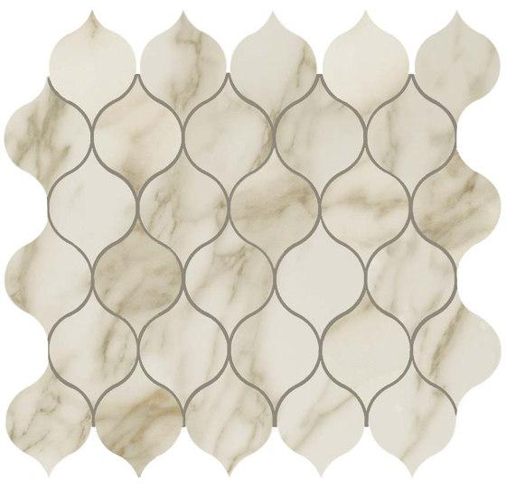MARVEL Royal Calacatta Drop Mosaico by Atlas Concorde | Ceramic mosaics