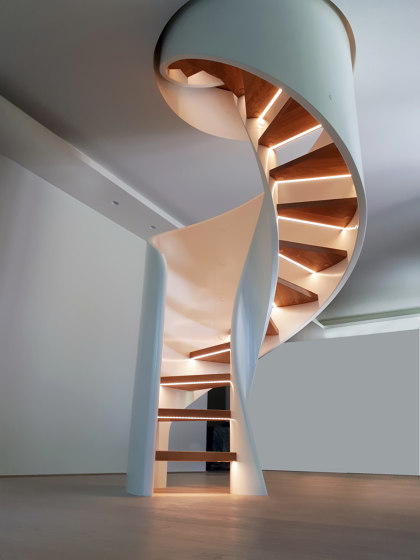 Tornado Spiral LED by Siller Treppen | Staircase systems