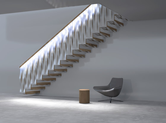 Wave Rail by Siller Treppen | Staircase systems