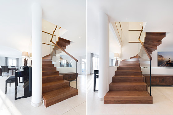 Zig-Zag Turn by Siller Treppen | Staircase systems