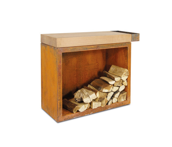 Butcher Block Storage 45-90-88 by OFYR | Fireplace accessories