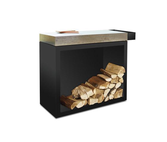 Butcher Block Storage Black 45-90-88 Ceramic Light by OFYR | Fireplace accessories
