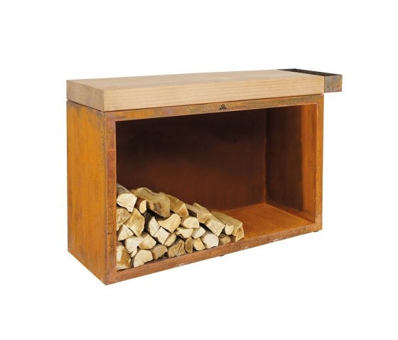 Butcher Block Storage 45-135-88 by OFYR | Fireplace accessories