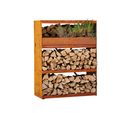 Wood Storage Cabinet by OFYR | Fireplace accessories