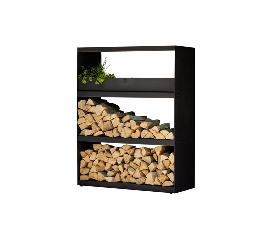 Wood Storage Cabinet Black by OFYR | Fireplace accessories