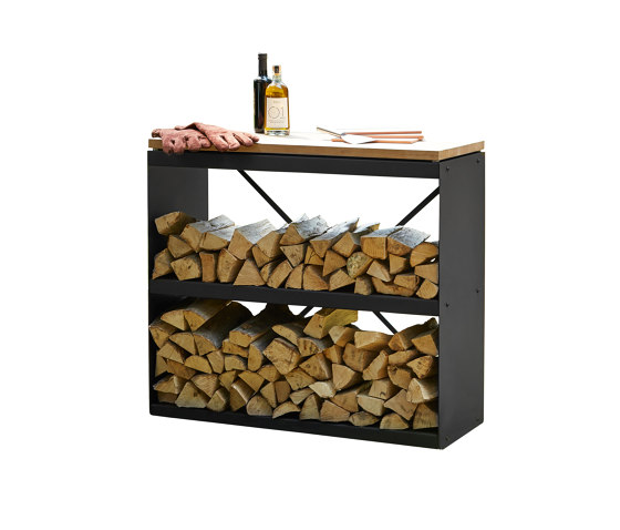 Wood Storage Dressoir Black by OFYR | Fireplace accessories
