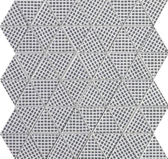 Pat Deco Blue Triangolo Mosaico di Fap Ceramiche | Mosaici ceramica