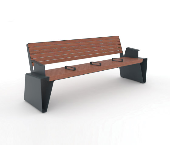 radium   Park bench with armrest by mmcité   Benches