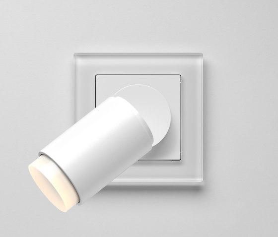 Plug & Light  | A Creation LED Spotlight white glass by JUNG | Wall lights