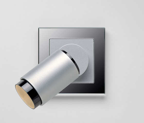 Plug & Light  | A Creation LED Spotlight Aluminium silver by JUNG | Wall lights