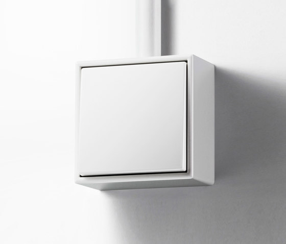 LS Cube   switch white by JUNG   Two-way switches