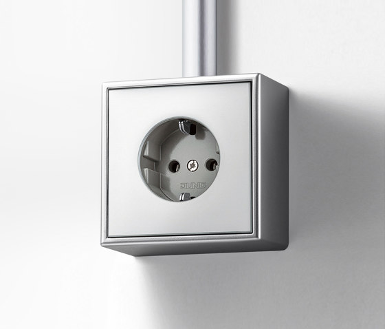 LS Cube | socket aluminium by JUNG | Two-way switches