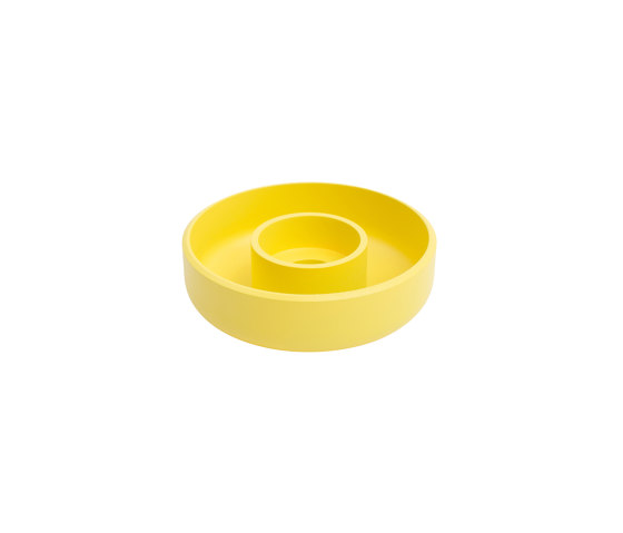 Punched Metal Candle Holder Yellow de Hem Design Studio   Candelabros