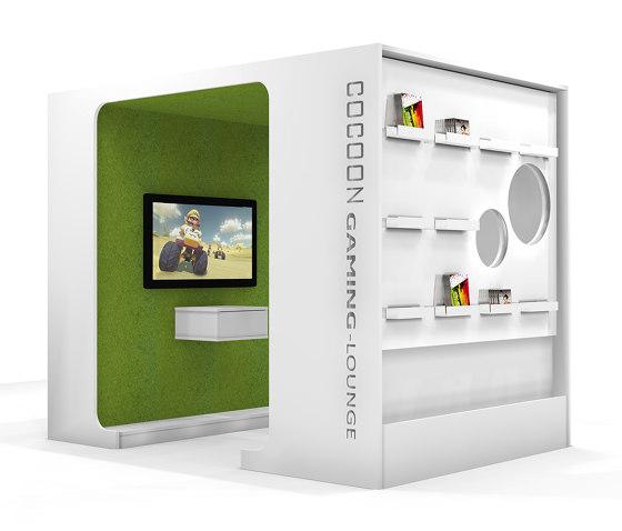 Cocoon Media-Lounge de Lammhults Biblioteksdesign | Box de bureau