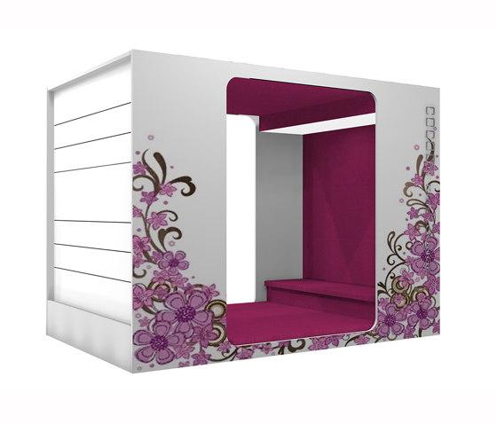 Cocoon Media-Lounge de Lammhults Biblioteksdesign | Cabinas de oficina