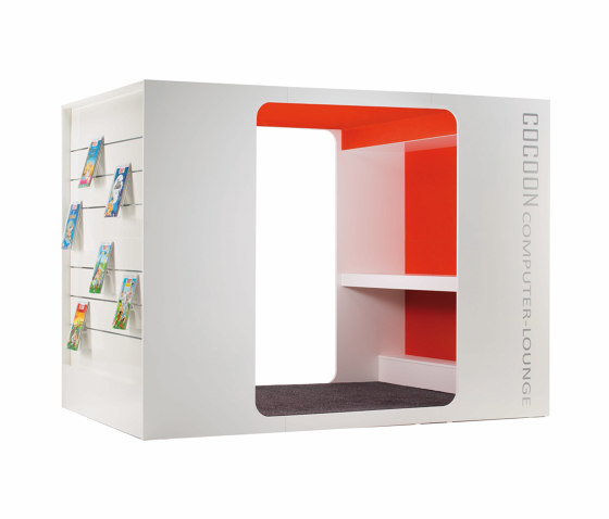 Cocoon Media-Lounge de Lammhults Biblioteksdesign   Cabinas de oficina