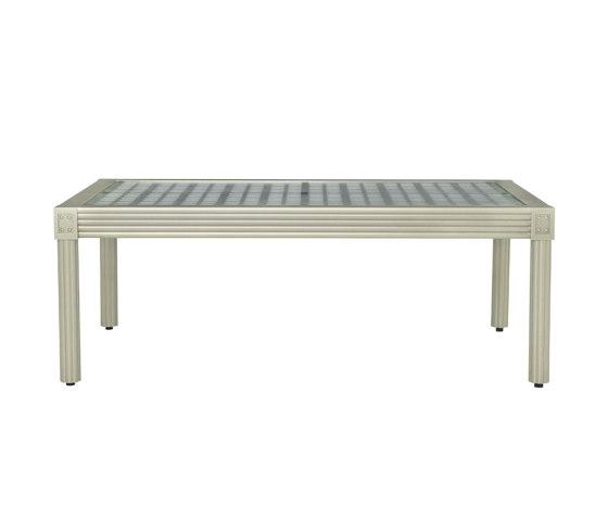QUADRATL GLASS TOP COCKTAIL TABLE RECTANGLE 119 by JANUS et Cie | Coffee tables