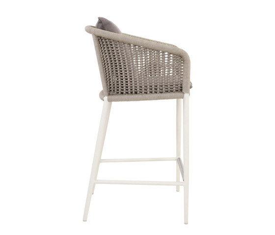 KNOT COUNTER STOOL WITH ARMS by JANUS et Cie | Bar stools