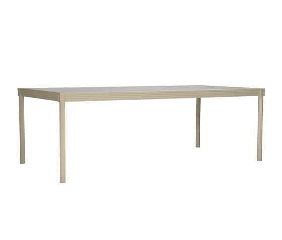 QUADRATL GLASS TOP DINING TABLE RECTANGLE 226 by JANUS et Cie | Dining tables