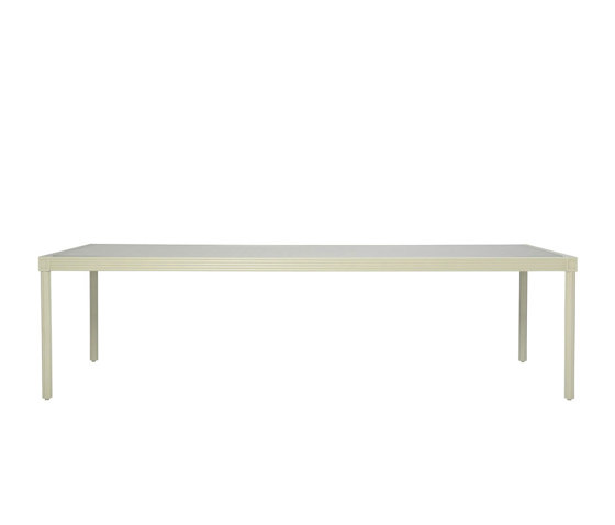 QUADRATL GLASS TOP DINING TABLE RECTANGLE 278 by JANUS et Cie   Dining tables