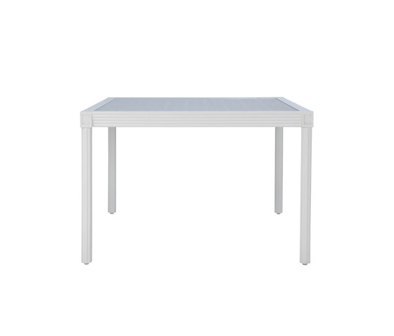 QUADRATL GLASS TOP DINING TABLE SQUARE 110 by JANUS et Cie   Dining tables