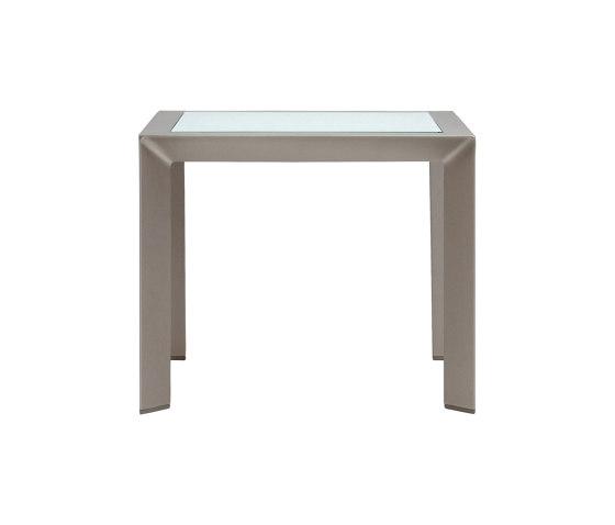 TRIG GLASS TOP SIDE TABLE SQUARE 48 de JANUS et Cie | Tables d'appoint