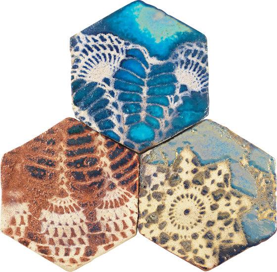 Ancient Lustre Rubboli 1873 | Ricami 01 by Cotto Etrusco | Ceramic tiles
