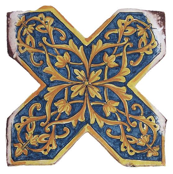 Medioevo   Decori Affreschi 06 de Cotto Etrusco   Carrelage céramique