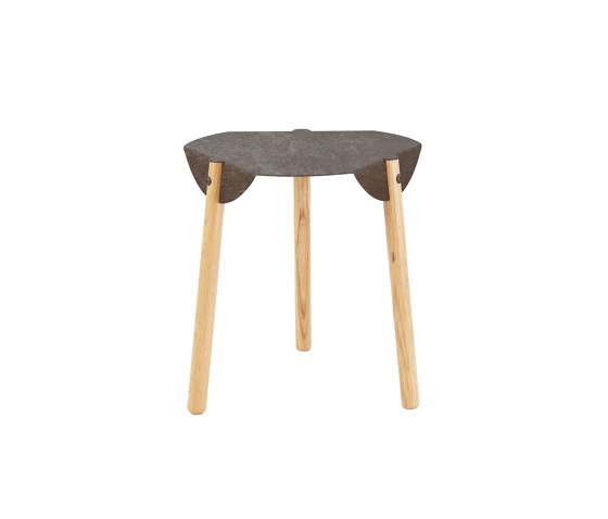 Note End Table - Rusted Steel Version de Hyfen   Mesas auxiliares