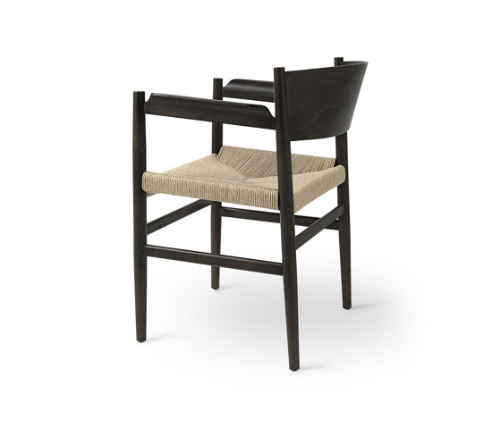 Nestor - Sirka Grey Stained Beech with Natural Paper Cord Seat by Mater | Chairs