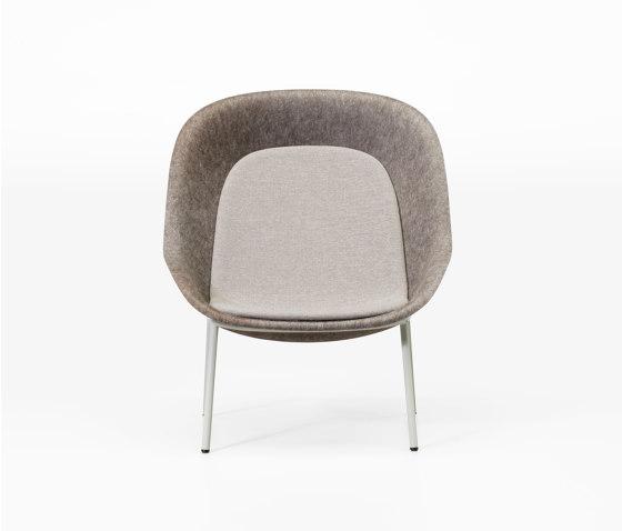 Nook PET Felt Lounge Chair by De Vorm | Armchairs