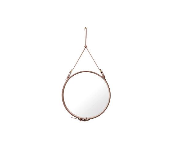 Adnet  Circulaire Wall Mirror - Alcantara Ø 58 de GUBI | Espejos