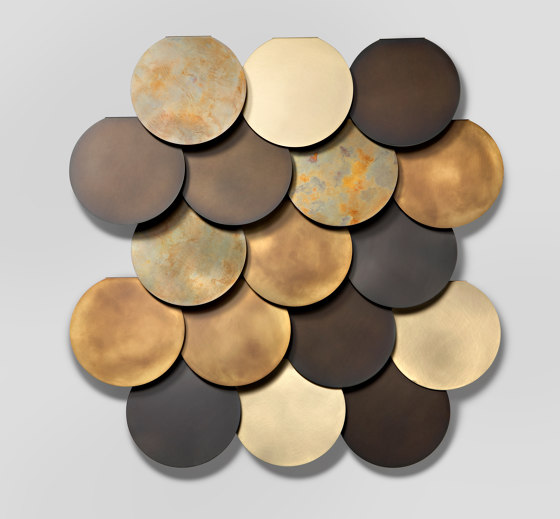 Circle Wall by De Castelli | Metal tiles