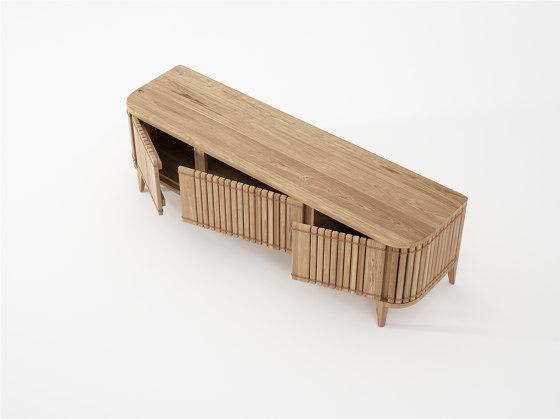 Koppar MEDIA CABINET 3 DOORS de Karpenter   Aparadores multimedia
