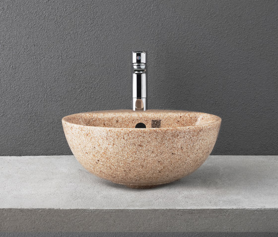 Soft 40 with faucet place by Woodio | Wash basins