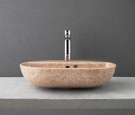 Soft 60 with faucet place by Woodio | Wash basins