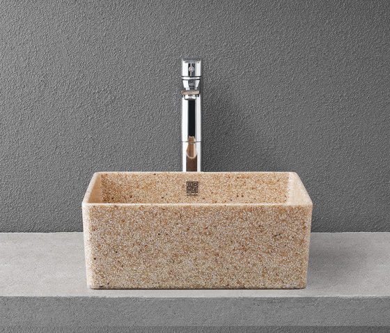 Cube 40 table top by Woodio | Wash basins