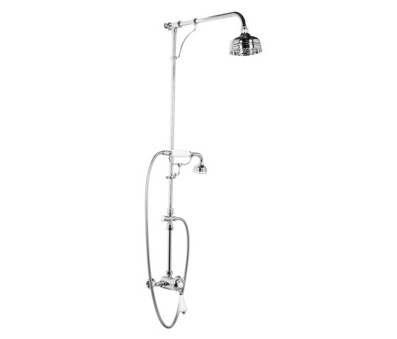 Manual shower valve with handset by Kenny & Mason   Shower controls