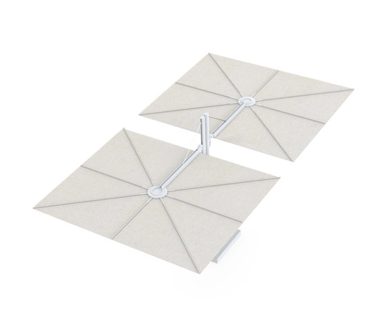 Spectra Opposite WHITE Canvas by UMBROSA | Parasols