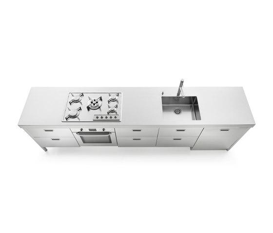 elemento lavaggio cottura 310 de ALPES-INOX   Cocinas compactas